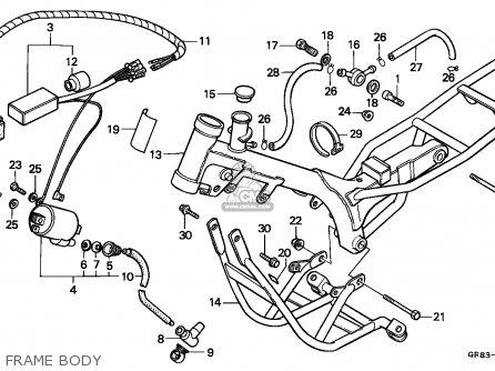 Honda Qr50 1994 R Australia Parts Lists And Schematics