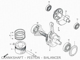 Honda Rs600 Crankshaft - Piston - Balancer
