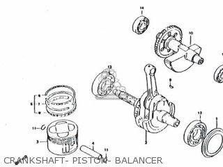 Honda Rs600 Crankshaft- Piston- Balancer