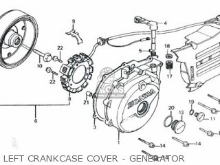 Honda Rs600 Left Crankcase Cover - Generator