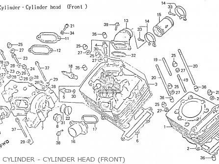 Honda Rs750d Cylinder - Cylinder Head front