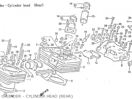 Honda Rs750d Cylinder - Cylinder Head rear