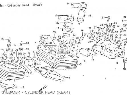 Honda Rs750d Cylinder - Cylinder Head rear