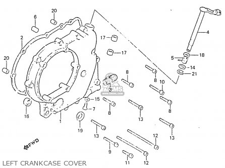 Honda Rs750d Left Crankcase Cover