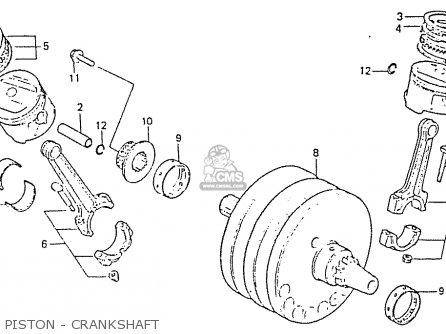 Honda Rs750d Piston - Crankshaft