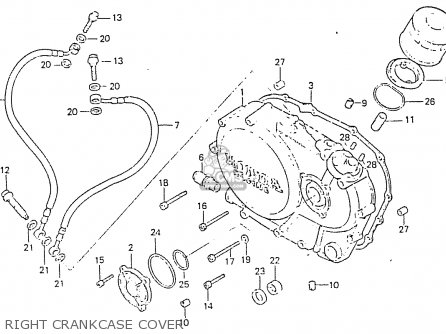Honda Rs750d Right Crankcase Cover