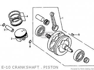 Honda Rtl250s 1985 1986 Hrc E-10 Crankshaft   Piston