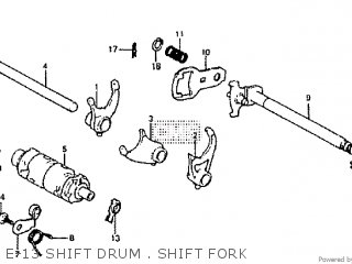 Honda Rtl250s 1985 1986 Hrc E-13 Shift Drum   Shift Fork