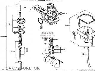 Honda Rtl250s 1985 1986 Hrc E-14 Carburetor