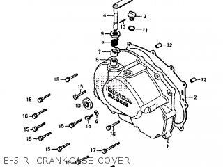 Honda Rtl250s 1985 1986 Hrc E-5 R  Crankcase Cover