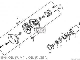 Honda Rtl250s 1985 1986 Hrc E-6 Oil Pump   Oil Filter