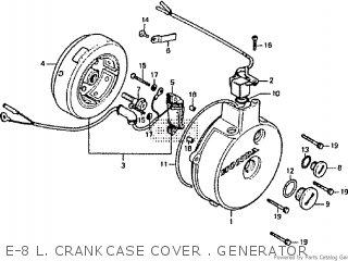 Honda Rtl250s 1985 1986 Hrc E-8 L  Crankcase Cover   Generator