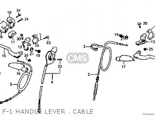 Honda Rtl250s 1985 1986 Hrc F-1 Handle Lever   Cable