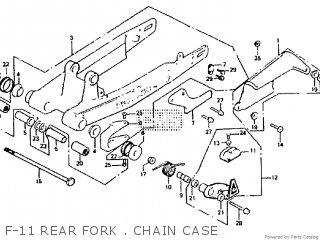 Honda Rtl250s 1985 1986 Hrc F-11 Rear Fork   Chain Case