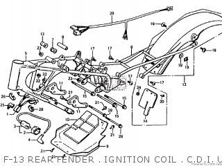 Honda Rtl250s 1985 1986 Hrc F-13 Rear Fender   Ignition Coil   C d i  Unit   Frame Body