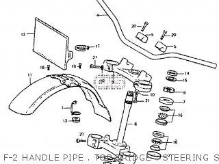 Honda Rtl250s 1985 1986 Hrc F-2 Handle Pipe   Top Bridge   Steering Stem   Front Fender
