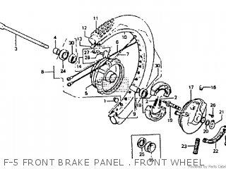 Honda Rtl250s 1985 1986 Hrc F-5 Front Brake Panel   Front Wheel