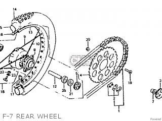 Honda Rtl250s 1985 1986 Hrc F-7 Rear Wheel