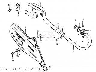 Honda Rtl250s 1985 1986 Hrc F-9 Exhaust Muffler