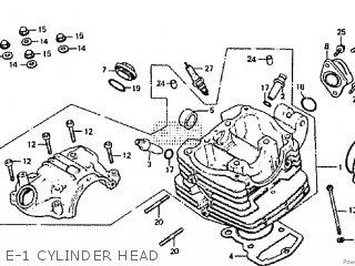 E-1 CYLINDER HEAD - RTL250S 1985 1986 HRC