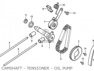 Honda S110 Benly general Export Type 5 Camshaft - Tensioner - Oil Pump