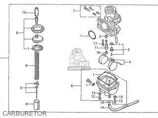 Honda S110 Benly general Export Type 5 Carburetor