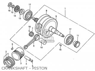 Honda S110 Benly General Export Type 5 Crankshaft - Piston