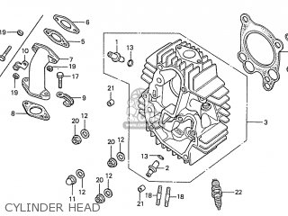 Honda S110 Benly general Export Type 5 Cylinder Head