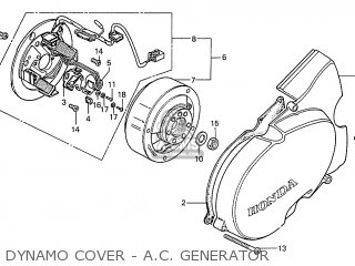 Honda S110 Benly general Export Type 5 Dynamo Cover - A c  Generator