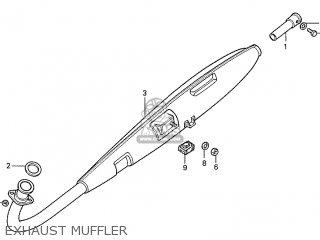 Honda S110 Benly General Export Type 5 Exhaust Muffler