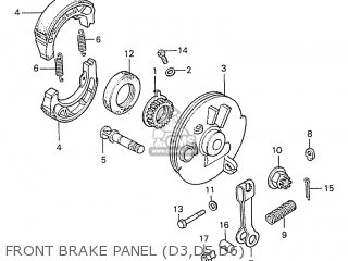 Honda S110 Benly general Export Type 5 Front Brake Panel d3 d5 d6