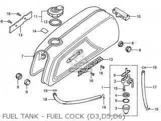 Honda S110 Benly General Export Type 5 Fuel Tank - Fuel Cock d3 d5 d6