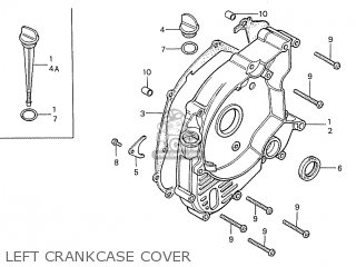 Honda S110 Benly general Export Type 5 Left Crankcase Cover