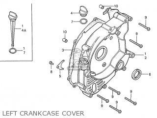 Honda S110 Benly General Export Type 5 Left Crankcase Cover