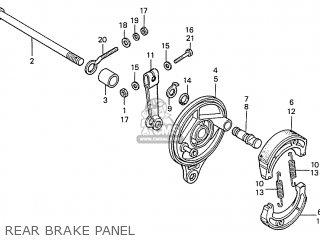 Honda S110 Benly General Export Type 5 Rear Brake Panel