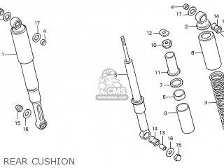 Honda S110 Benly General Export Type 5 Rear Cushion