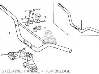 Honda S110 Benly general Export Type 5 Steering Handle - Top Bridge