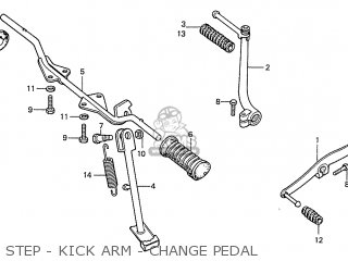 Honda S110 Benly General Export Type 5 Step - Kick Arm - Change Pedal