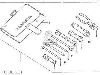 Honda S110 Benly General Export Type 5 Tool Set