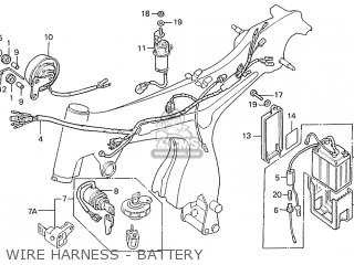 Honda S110 Benly general Export Type 5 Wire Harness - Battery