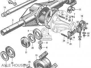 Honda S600 Convertible General Export As285 Axle Housing