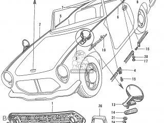 Honda S600 Convertible General Export As285 Body Accessory