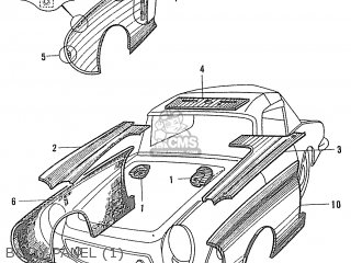 Honda S600 Convertible General Export As285 Body Panel 1