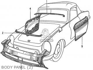 Honda S600 Convertible General Export As285 Body Panel 2