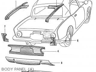 Honda S600 Convertible General Export As285 Body Panel 4