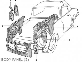 Honda S600 Convertible General Export As285 Body Panel 5