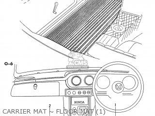 Honda S600 Convertible General Export As285 Carrier Mat ~ Floor Mat 1