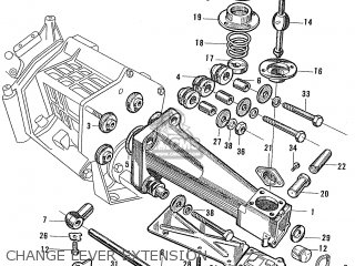 Honda S600 Convertible General Export As285 Change Lever Extension
