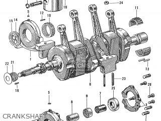Honda S600 Convertible General Export As285 Crankshaft