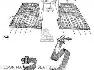 Honda S600 Convertible General Export As285 Floor Mat 2 ~ Seat Belt